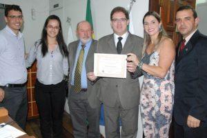 Presidente da OAB Manhuaçu recebe título de Cidadão Honorário de Martins Soares