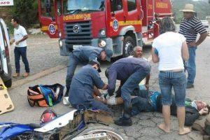 Manhuaçu: Motociclista bate em caminhão na Realeza