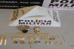 Lajinha: PM recupera joias furtadas por menores infratores