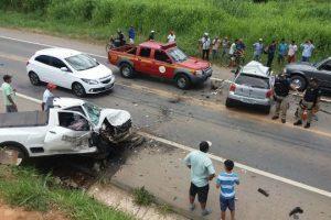Caratinga: Mulher morre em acidente na BR 116. Mais 3 pessoas feridas