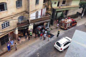 Mulher é atropelada no centro de Manhuaçu
