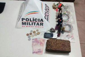 Homem é preso com barra de maconha em Manhuaçu