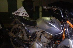 Matipó: PM recupera motocicleta furtada e prende autor