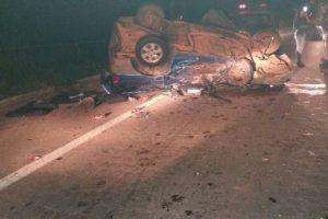 Acidente mata uma pessoa em Realeza. Vítimas socorridas à UPA Manhuaçu