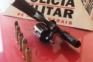 Arma de fogo é apreendida após fuga de suspeitos