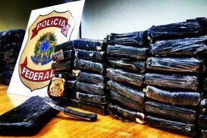66 quilos de pasta de cocaína apreendidos em Manhuaçu pela Polícia Federal