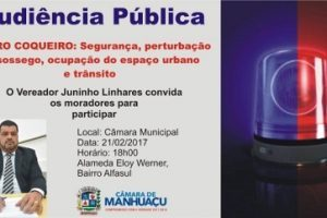 Audiência pública sobre segurança no Coqueiro acontece nesta terça