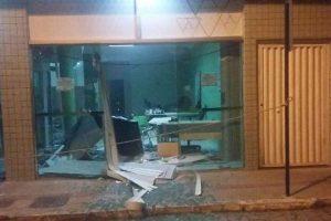 Bandidos explodem agência bancária em Alto Jequitibá