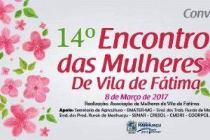 Homenagem às mulheres na Vila de Fátima, em Manhuaçu