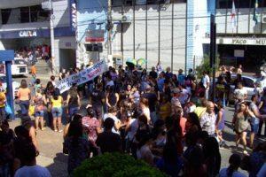 Manifestação contra a reforma da Previdência Social em Manhuaçu