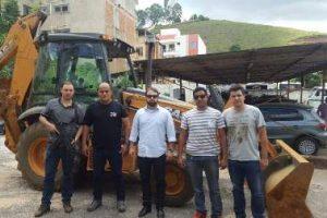 Retroescavadeira roubada no Rio de Janeiro é recuperada pela Polícia Civil