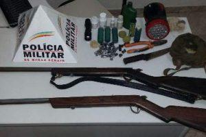 Armas apreendidas em Matipó