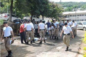 Alunos do Curso de Soldados da PM participam de aula prática de criminalística