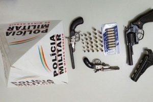 Matipó: PM apreende garruchas e revólver após denúncia