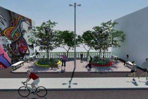 Praça será revitalizada em Manhuaçu. Gesto concreto de jovens do EAC
