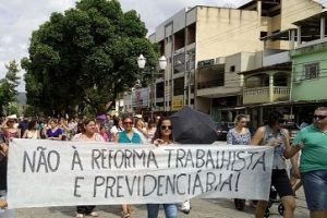 Ipanema: Manifestação contra a reforma da previdência