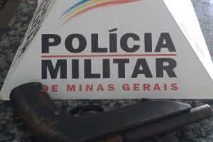 Matipó: PM apreende arma de fogo artesanal