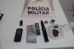 Reduto: PM conduz dois suspeitos de envolvimento com o tráfico de drogas