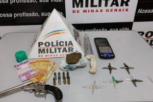 Arma e drogas apreendidas em Ipanema