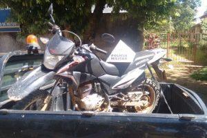 PM recupera motocicleta furtada em Mutum
