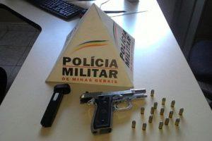 PM apreende arma de fogo e munições em Martins Soares