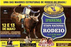 Etapa Nacional de Rodeio em Ipanema: dias 12 e 13/04