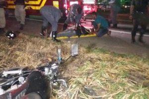 Motociclista é atingido por carro em Santa Bárbara do Leste