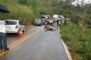 Idoso morre em acidente com motocicleta em Lajinha