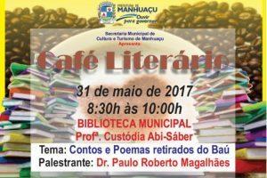 Café Literário será realizado nesta quarta-feira