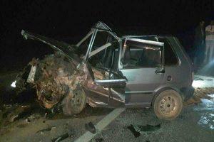 Acidente envolve 4 veículos na BR 262 entre Manhuaçu e Reduto