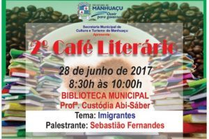 2º Café Literário será realizado nesta quarta-feira, dia 28