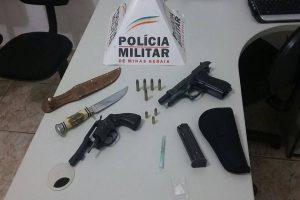 PM apreende três armas de fogo em São João do Manhuaçu