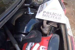 Santa Rita de Minas: PM desarticula desmanche de motocicletas