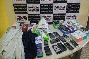 PM de Lajinha prende autores de furto em loja de celular