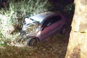 Carro bate em árvore em Santa Rita de Minas: Duas pessoas mortas