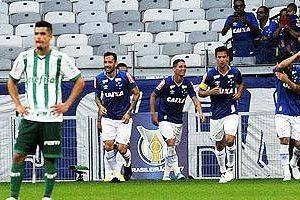 Cruzeiro vence o Palmeiras e entra no G6