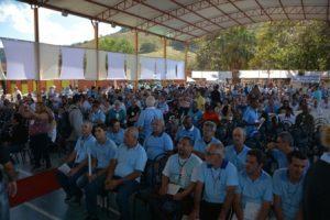Terços dos homens de Manhuaçu participa do 4º Congresso Diocesano em Goiabal