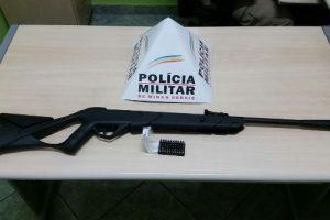 Manhuaçu: PM apreende armas e munições na zona rural