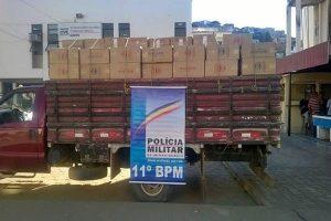 Matipó: 600 caixas de cigarros contrabandeados são apreendidas pela PM