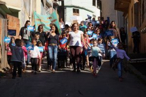 ESF do Bairro Petrina e Escola Municipal realizam passeata