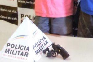 Lajinha: PM evita crime e apreende arma de fogo