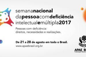 """APAE desenvolve a """"Semana Nacional da Pessoa com Deficiência Intelectual e Múltipla"""""""