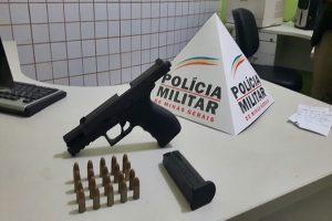 PM apreende pistola e munições no Bairro Matinha