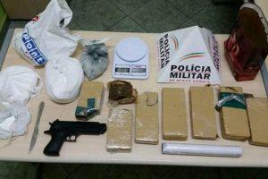 PM apreende drogas em Manhuaçu: Maconha e cocaína