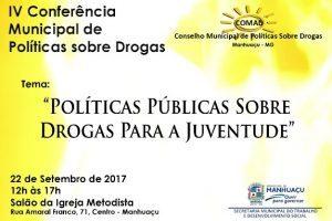 Participe da IV Conferência sobre drogas de Manhuaçu