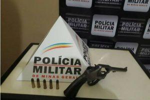 PM apreende armas de fogo em Chalé e Mutum