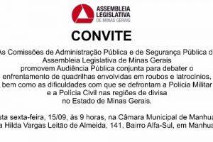 Manhuaçu debate segurança pública nesta sexta-feira
