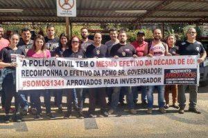 Policiais Civis cobram nomeação de aprovados em concurso público