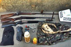 Carangola: Suspeitos de envolvimento em roubos na região são presos