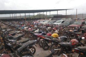 Mais de 800 veículos serão leilão em Manhuaçu pelo Detran